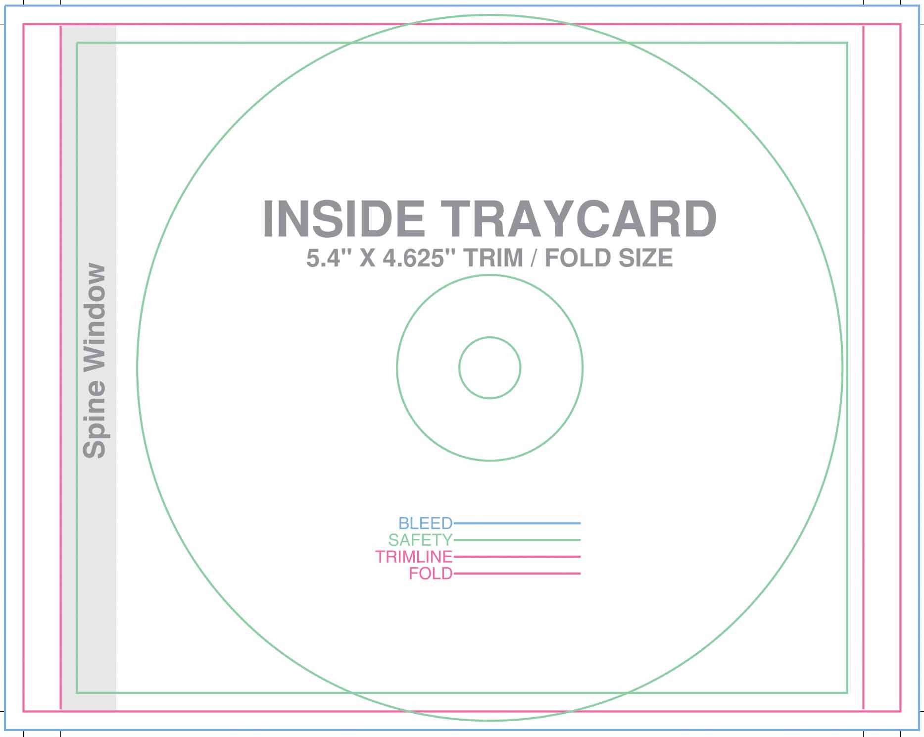 Design templates for Cd spine template